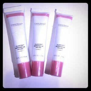 3 X Crepe erase flaw-fix refining lip polish